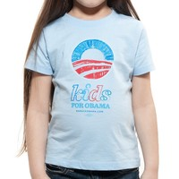 Obama for America | 2012 | Store | Kids for Obama Light Blue T - Apparel