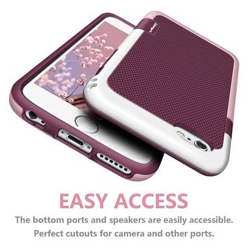 Premium Dropproof PC TPU Silicone Hard Protective Case for iphone X 6s 7 8 Plus full body Case Shatterproof Tough Cover Capinhas