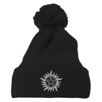 Supernatural Embroidered Knit Pom Cap
