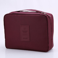 Burgundy Outdoor Travel Camping Wash Cosmetic Bags