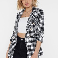 Love Bites Houndstooth Blazer