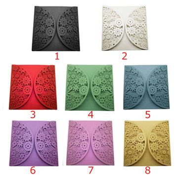 10Pcs Delicate Carved Pattern Romantic Wedding Party Invitation Card For Wedding Business Party Birthday