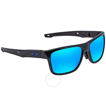 OAKLEY Crossrange Prizm Sapphire Rectangular Asia Fit Sunglasses OO9371 10