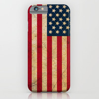 Vintage American Flag iPhone & iPod Case by Smyrna