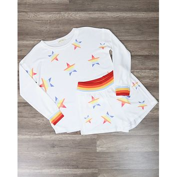 Seeing Stars Loungewear Set in Rainbow