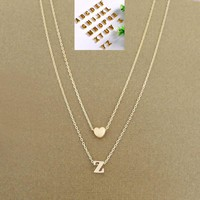 Women personalized any initial customize name necklace pendant charm jewelry letter chain fashion pendants for lovers love gift