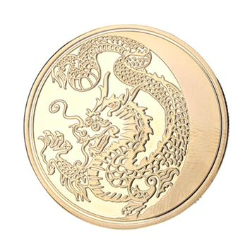 Chinese Dragon Pattern Commemorative Coin Challenge Gift Collection Memorial Souvenirs Collectibles  Decoration