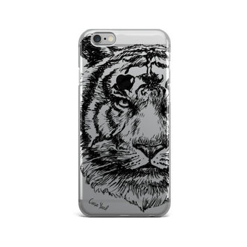 clear iphone 6s case , Tiger Sketch iphone 6s case, Tiger Sketch iphone 6 case, Tiger Sketch iphone 5s case, clear tiger iphone case