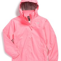 The North Face Girl's 'Resolve' Reflective Waterproof Jacket,