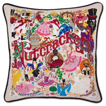 Nutcracker Hand Embroidered Pillow