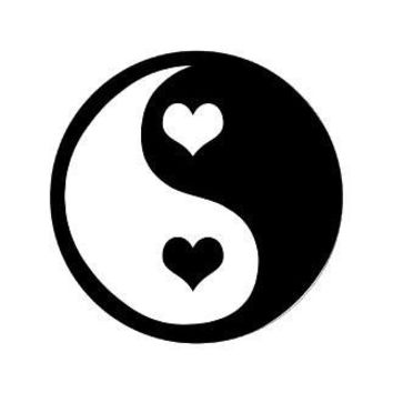 Ying Yang Heart  Vinyl Car/Laptop/Window/Wall Decal