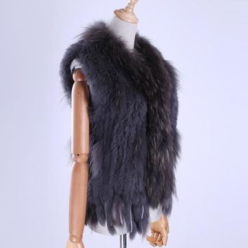 Rabbit Fur Winter Vest