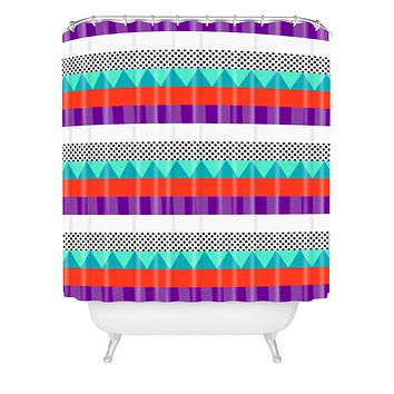Elisabeth Fredriksson Happy Stripes 1 Shower Curtain