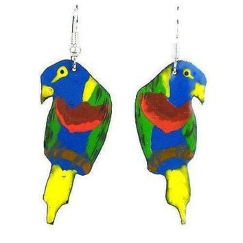 Painted Parrot Earrings - Creative Alternatives