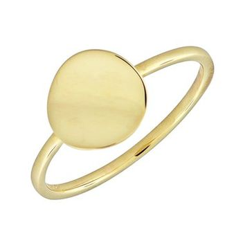 Bony Levy 14k Gold Concave Disc Ring | Nordstrom