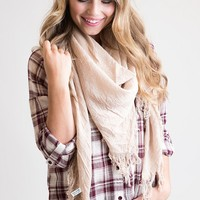 Fringe Is In Ivory Infinity Scarf