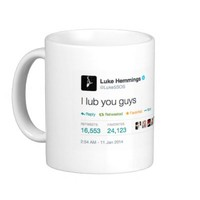 Luke5SOS I lub you guys tweet mug