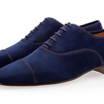 POLIN VELUKID NAVY LACE-UP