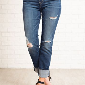 Trixie Flying Monkey Distressed Jeans (Dark Wash)