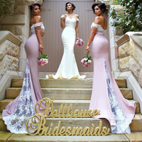 Bridesmaid Dresses 2016 New vestido madrinha Lace Applique Sexy Mermaid Long Maid Of Honor For Wedding Party Custom Made