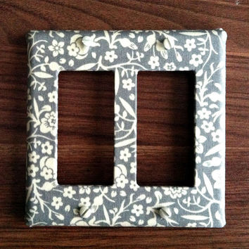 Double Slider or Rocker Light Switch Plate Cover  by maisonwares