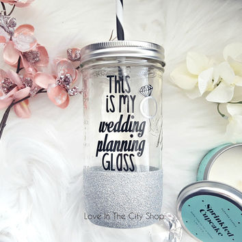 Wedding Planning Tumbler (Glass)