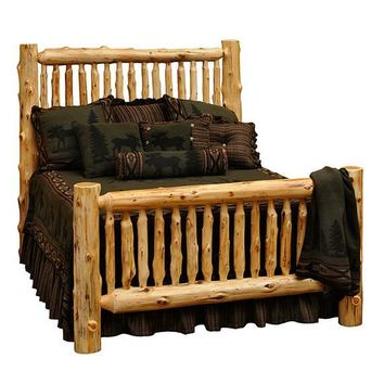 Cedar Small Spindle Bed - Queen