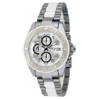 Invicta 1250 Men's Numbered Limited Edition Tungsten & Ceramic Silver Dial Chronograph Watch