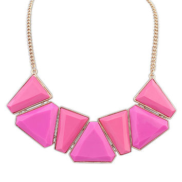 Stylish Simple Design Geometric Necklace Sponge [4918879172]