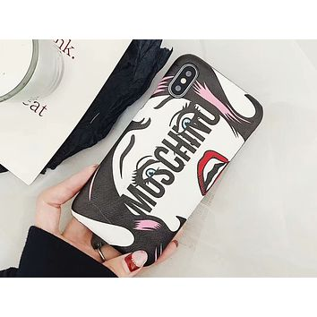 MOSCHINO New White Crying Eyes iPhone7/8Plus Women's Protective Cover F-OF-SJK 2
