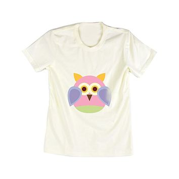 Emeri Unisex Adult's Cool Owl Cotton Tshirt