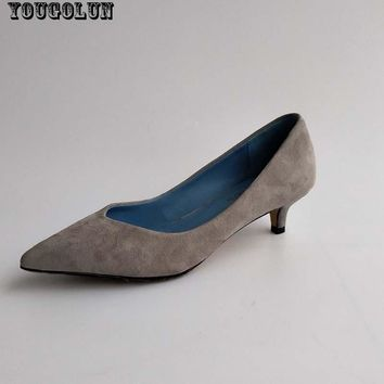 YOUGOLUN Office Ladies High Heels(4.5cm)Women Sexy Pointed Toe Heel Pumps Fashion Woma