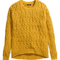 Cable-knit Sweater - from H&M