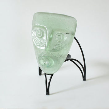 Vintage Mask Candle Holder - France