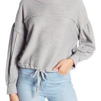Melrose and Market | Cropped Drawstring Sweater | Nordstrom Rack