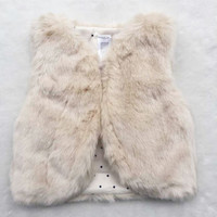 Faux Fur Baby Girls Cotton Padded Vest
