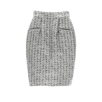 Chanel Womens Metallic Lined Pencil Skirt