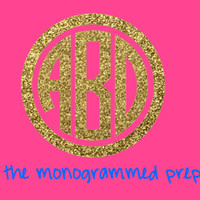 Glitter Monogram Sticker Car Decal