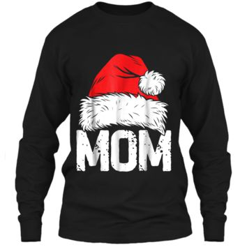 Mom Christmas Santa Family Matching Pajamas Mama PJs LS Ultra Cotton Tshirt