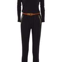 MICHAEL Michael Kors - Belted stretch-jersey jumpsuit