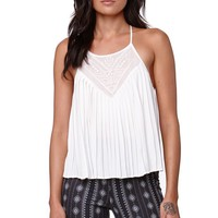 Kendall & Kylie Pleated Strappy Tank - Womens Shirts - White