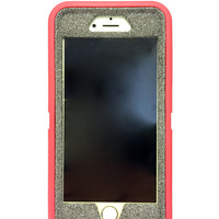 iPhone 6 (4.7 inch) OtterBox Defender Series Case Glitter Cute Sparkly Bling Defender Series Custom Case  pink / sunstone