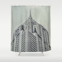 Vintage Chrysler Cuilding 1930's Shower Curtain by Wood-n-Images | Society6