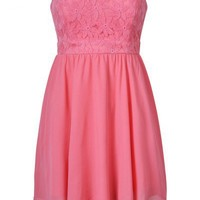 EMBROIDED BODICE SKATER DRESS