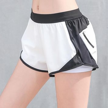 Breathable Yoga Shorts Women Sports Black Biker Shorts Quick Dry High Waist Short Fitness Clothes Jogging Running Athletic Gym