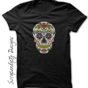Day of the Dead Shirt - Kids Day of the Dead Clothing / Toddler Sugar Skull T Shirt / Womens Halloween Tee / Mens Mexican Tshirt / Floral