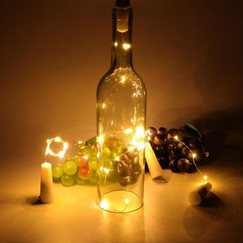 10 LED Copper Wire String Fairy Light With Bottle Stopper