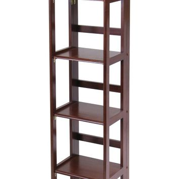 Looks Adorable With Intelligently Designed 4-Tier Narrow Folding Shelf by Winsome Woods