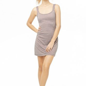 Houndstooth Mini Shift Dress