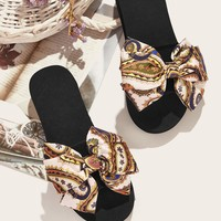 Tribal Print Bow Decor Sliders